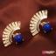 ต่างหุ แฟชั่น Lady Earrings ear stud Blue thumbnail 1