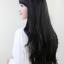 วิกผมหน้าม้ายาวดันลอนปลายเล็กน้อยเกาหลี ( สีดำ ) thumbnail 4