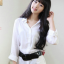 วิกผมหน้าม้ายาวดันลอนปลายเล็กน้อยเกาหลี ( สีดำ ) thumbnail 3