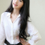วิกผมหน้าม้ายาวดันลอนปลายเล็กน้อยเกาหลี ( สีดำ ) thumbnail 2