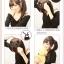 hair piece ทนความร้อนผมตรงเกาหลี (สีดำ) thumbnail 5