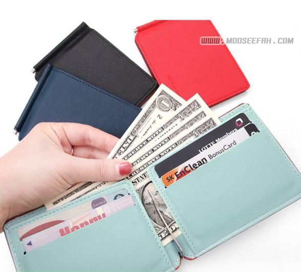 กระเป๋าสตางค์ใบเล็ก แบบคลิปหนีบแบงค์ Money clip