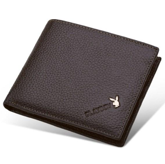 กระเป๋าสตางค์ผู้ชาย PL012 [สีน้ำตาล]