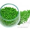 ลูกปัดมุกพลาสติก 4มิล สีเขียวเข้ม (450 กรัม)