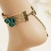Anklet Ruby bracelet braided rope สร้อยข้อเท้าเกาหลี
