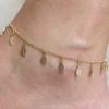 สร้อยข้อเท้าเกาหลี Adorned with gold leaf necklace