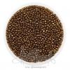 ลูกปัดเม็ดทราย 12/0 โทนมุก สีน้ำตาลทอง (100 กรัม)