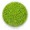 ลูกปัดเม็ดทราย 12/0 โทนด้าน สีเขียวตอง (100 กรัม)