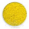 ลูกปัดเม็ดทราย 12/0 โทนด้าน สีเหลือง (100 กรัม)