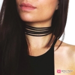 สร้อยคอ Black multilayer necklace choker chain