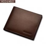 กระเป๋าสตางค์หนังแท้ VICO & NELO รหัส VN-008 [สีน้ำตาลเข้ม]