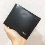 กระเป๋าสตางค์ผู้ชาย MS198 [สีดำ ด้านในน้ำตาล]