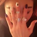 แหวนทองประดับเพชร แฟชั่นset 4 เกาหลีอินเทรนด์