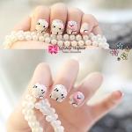เล็บปลอม แฟชั่น Hello Kitty หัวแมวน่ารัก