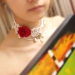 necklace Rose Princess สร้อยคอเกาหลีเจ้าหญิง