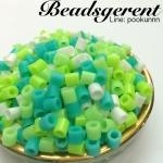 เม็ดบีทรีดร้อนโทนสีเขียว ขนาด5มิล (15 กรัม)