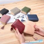 กระเป๋าสตางค์ Piece 2 Way wallet Size S [พับปิดกระดุม+มีซิปแยก]