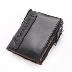 กระเป๋าสตางค์ผู้ชาย JB-005 [สีดำ มีซิป]