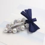 กิ๊ฟติดผม เกาหลี Zircon diamond pearl hairpin [น้ำเงินเข้ม ]