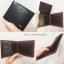 กระเป๋าสตางค์ผู้ชาย MS198 [สีดำ ด้านในน้ำตาล] thumbnail 5
