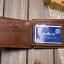 กระเป๋าสตางค์ผู้ชาย หนังแท้ BA-015 [สีน้ำตาล] [มีซิป] thumbnail 3