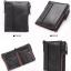 กระเป๋าสตางค์ผู้ชาย JB-005 [สีดำ มีซิป] thumbnail 2
