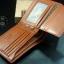 กระเป๋าสตางค์ผู้ชาย PD-006 [สีเทา ด้านในสีชา] thumbnail 3
