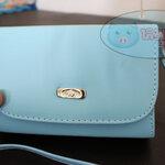 กระเป๋าสะพาย ปรับสายได้ สีฟ้าพาสเทล
