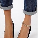 สร้อยข้อเท้าโซ่มังกร (ทอง)
