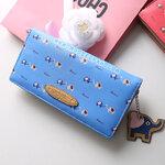 กระเป๋าสตางค์แฟชั่นเกาหลี Elephant สีฟ้า