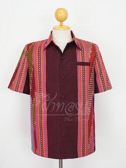 เสื้อสูทผ้าฝ้ายลายน้ำไหลสุโขทัย ไซส์ XL