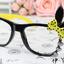 แว่นตาแฟชั่นเกาหลี กระต่ายดำเหลือง (ไม่มีเลนส์) thumbnail 1