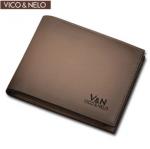 กระเป๋าสตางค์หนังแท้ Vico&Nelo 005 [สีเทา]